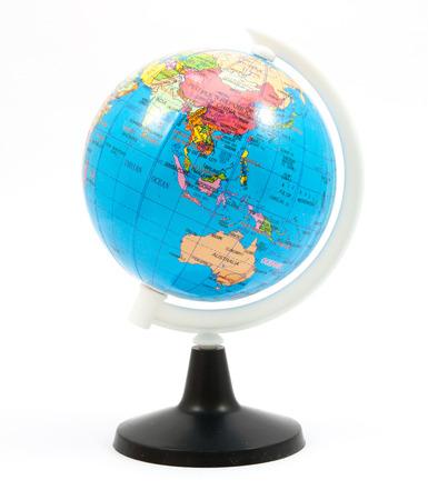 simulated world isolated on white background Stock Photo