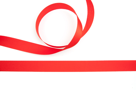 serpentine: red ribbon serpentine solated on white background