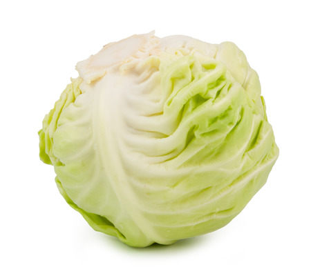 green cabbage isolated on white background Stock Photo