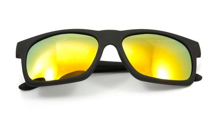 wayfarer: black sunglasses on white background