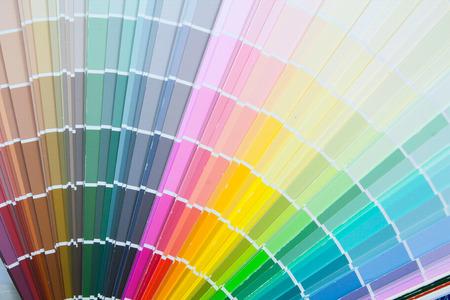 Paint colour palette in close-up. 版權商用圖片 - 64252659