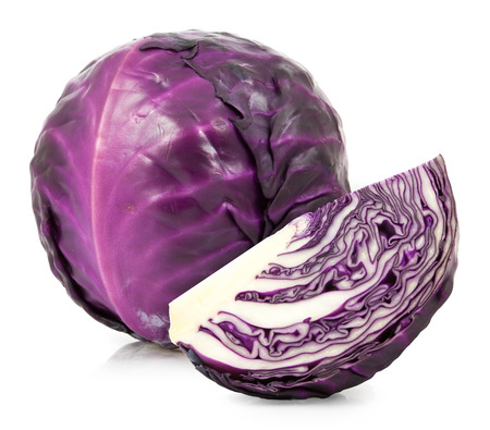 red cabbage isolated on white background 版權商用圖片 - 64252917