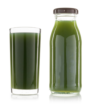 green vegetable: green vegetable juice isolated on white background