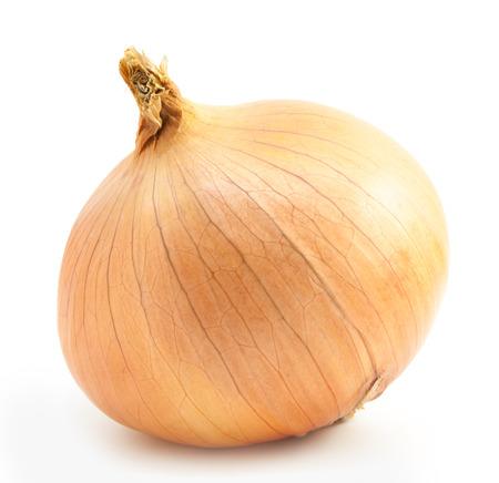 bulbos frescos de la cebolla en un fondo blanco