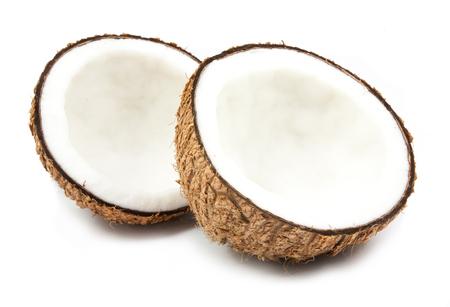 half coconut isolated on white background Stock Photo
