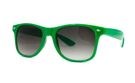 gree: Gree sunglasses on white background Stock Photo