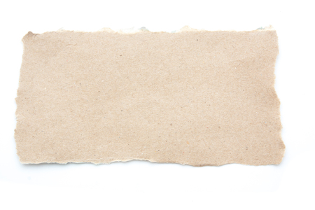 tear paper: Empty blank recycle paper tear paper isolated Stock Photo