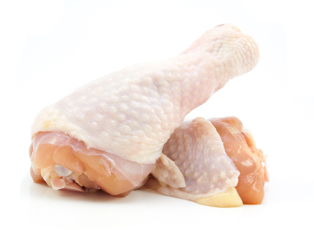 drumsticks: Fresh chicken drumsticks on isolated on a white