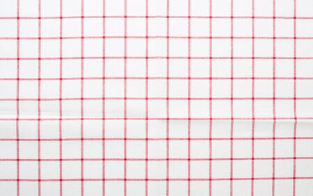 gingham: red and white gingham cloth background with fabric texture