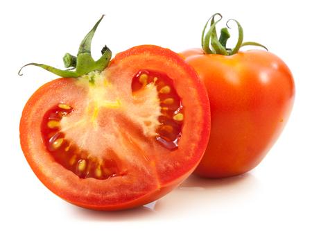 tomato slice: tomato half slice isolated on white background
