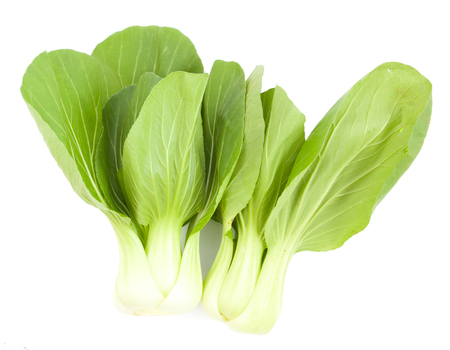 bok choy: Baby Pak Choy (Chinese Cabbage) on white