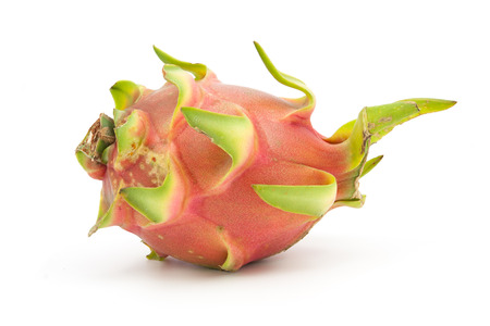 flesh colour: dragon fruit isolated on white background Stock Photo