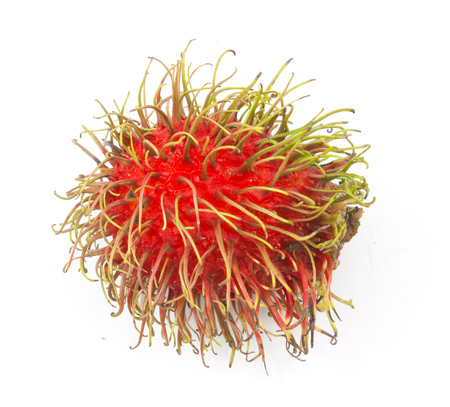 fresh rambutan isolated on white background Stock Photo