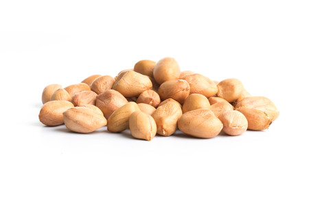 group peanuts isolated on a white background
