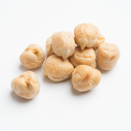 chickpeas isolated on white background top view Archivio Fotografico
