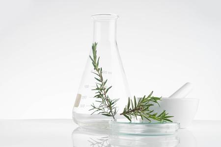 laboratorio e investigación con medicina alternativa de hierbas cuidado natural de la piel