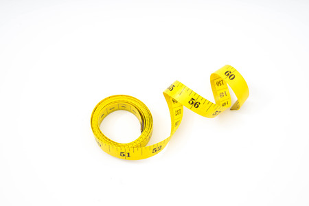 Measure tape isolated over white