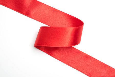 Rote Bandgrenze lokalisiert auf weißem Hintergrund Standard-Bild