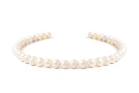 pearl necklace isolated on white blackground Stock fotó