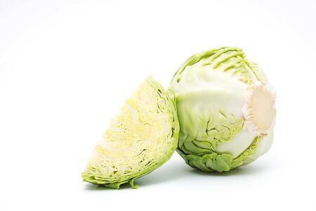 cabbage isolated on white background Foto de archivo