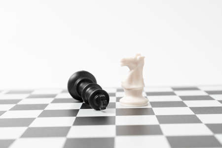The winner chess on a chessboard background