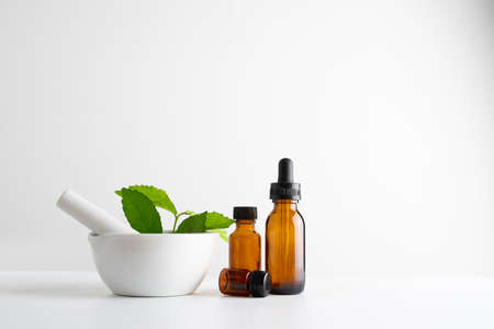 laboratory and research with alternative herb medicine natural skin care