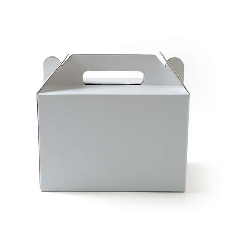 blank packaging box on white background