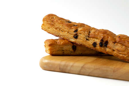 chocolate stick bread on white background 版權商用圖片