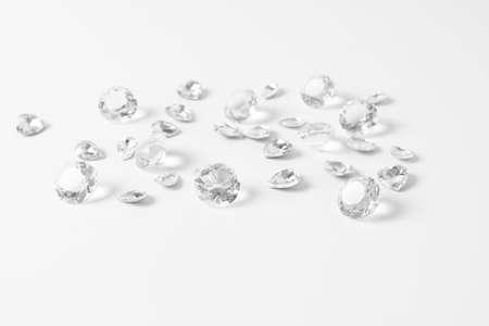 diamonds isolated on white background Stock Photo
