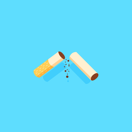 Cigarette Icon vector illustration with a shadow