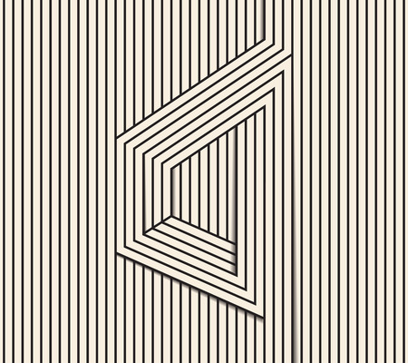 trickery: Abstract background made in vector. Optical illusion figure.Black and white line art. Illustration
