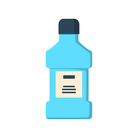 mouthwash: mouthwash bottle isolated icon illustration