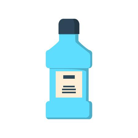 enjuague bucal: mouthwash bottle isolated icon illustration