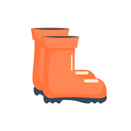 Stylish rubber boots icon in cartoon style isolated on white background. Gardening symbol