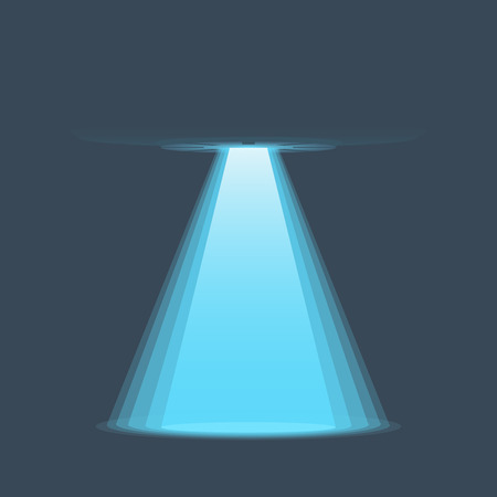 invader: UFO light vector. Alien sky beams. Ufo spaceship with beam, saucer ufo flying illustration Illustration