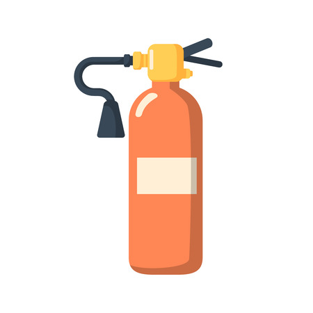 Fire extinguisher icon cartoon style. Single silhouette fire equipment icon from the big fire Department set.