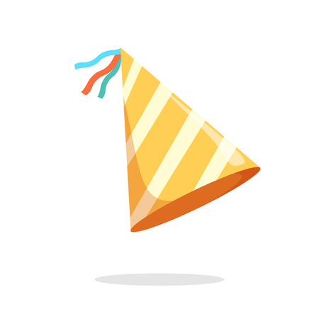 Party hat icon. Isometric 3d illustration of party hat vector icon for web Иллюстрация