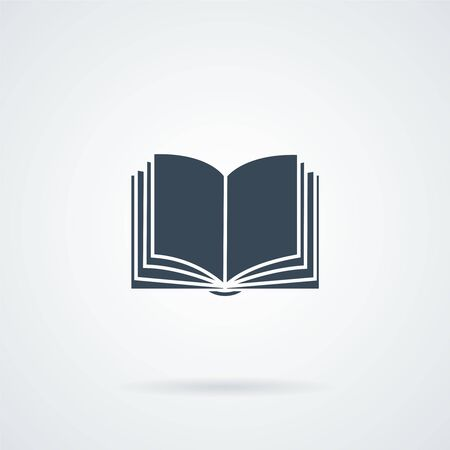 nformation: Book icon isolated on white bockground, flat design best vector icon