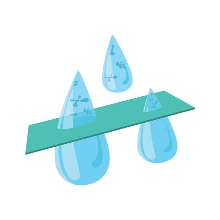 filtering: Water filtration icon in cartoon style isolated on white background