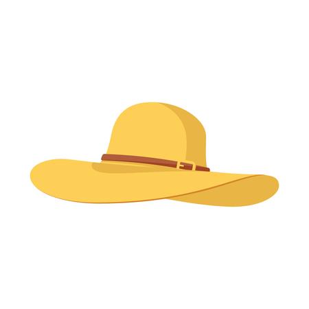 icône chapeau plage panama Vecteurs