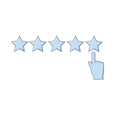 Isolated rating icon on white background.