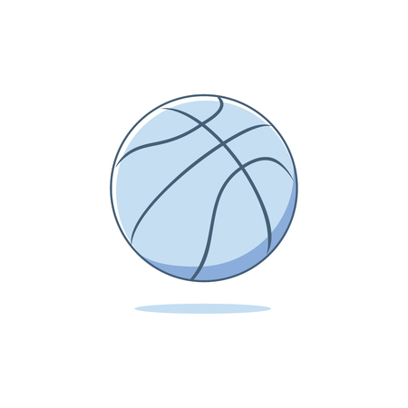 Colorful silhouette with basketball ball vector illustration Иллюстрация