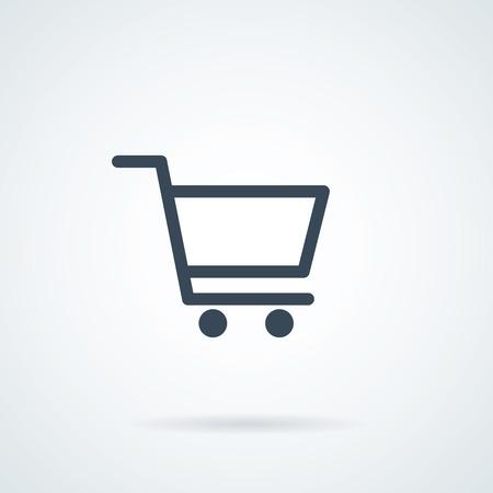 Shopping Cart icon, flat design