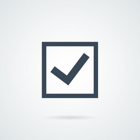 check mark vector icon Иллюстрация