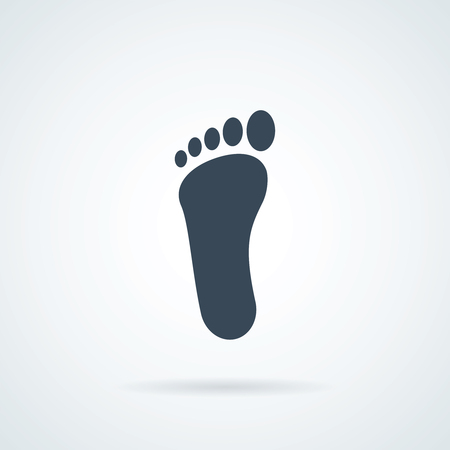 Foot icon. Feet sign. Footprint symbol. Thin line icon on white background. Vector illustration.