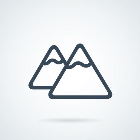 mountain icon illustration isolated vector sign symbol. Success icon. Иллюстрация