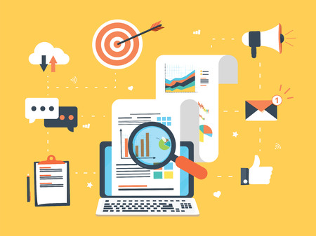 Flat design concepts for business marketing, analytics and strategy