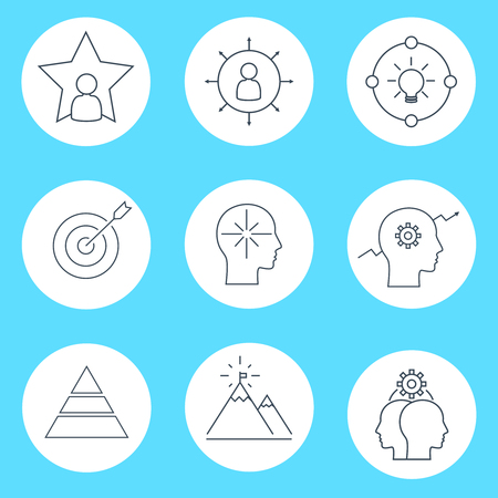 versatile: Set of vector icon graphics related to business management, strategy