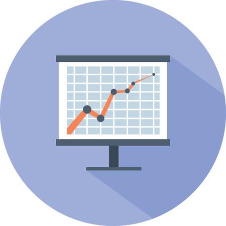 financial board graph presentation icon.
