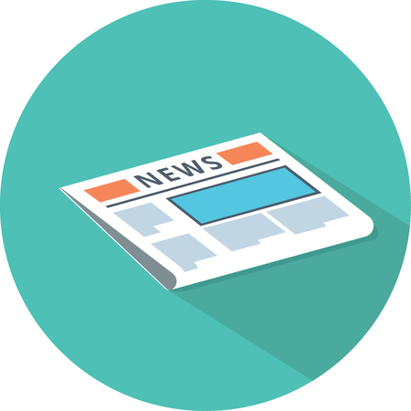 Newspaper icon. News publish media icon. Иллюстрация